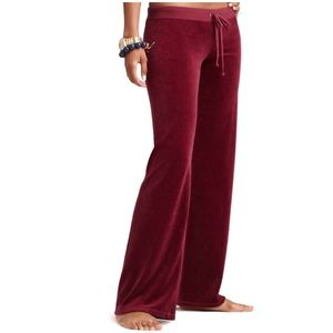 Juicy Couture Red Velour Track Pants